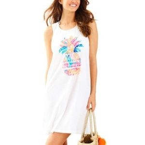Lilly Pulitzer L Pineapple Swim Coverup Dress 3399